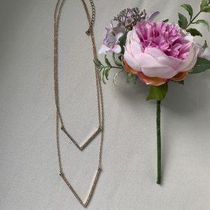 Crystal Chevron Necklace